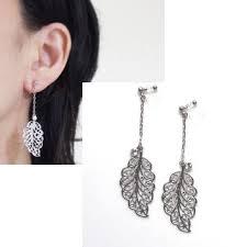 clip on dangle earrings dangle clip earrings look like pierced earrings dangle gold tone
