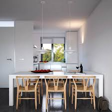 kitchen dining room wood slab dining table for simple design