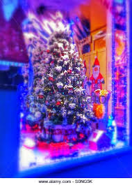 Christmas Decorations Shops In Uk by Christmas Tree In Shop Window Stock Photos U0026 Christmas Tree In