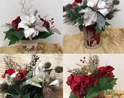 christmas floral arrangements christmas floral arrangements etsy
