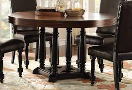 homelegance blossomwood round dining table cherry black 5404 54