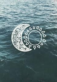 moon sun water ocean blue white wallpaper wallpaper