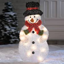 luxury inspiration outdoor snowman decorations lighted