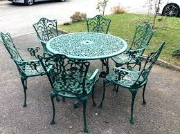 green metal outdoor table metal garden table and chairs image of top metal patio table metal