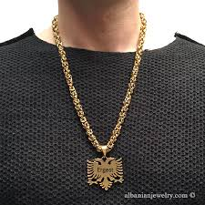 mens byzantine necklace gold images Eagle necklace byzantine chain albanian jewlery jpg
