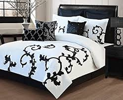 King Black Comforter Set Amazon Com 9 Piece King Duchess Black And White Comforter Set