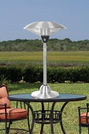 stainless steel outdoor patio heater fire sense stainless steel table top round halogen patio heater