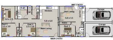 duplex floor plans for narrow lots narrow lot dual key homes narrow lot dual key home design dual