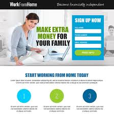 free online home page design work from home landing page design template exle to earn money online
