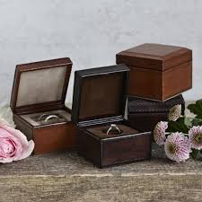 Wedding Ring Box by Leather Ring Box Life Of Riley Retail Ltd