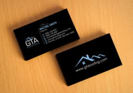 82 modern professional roofing business card designs for gta
