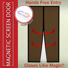 Mosquito Curtains Coupon Code by Magnetic Mosquito Screen Door Heavy Duty Mesh Fits Doors Handsfree