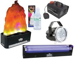 american dj halloween package enferno simulated fire flame light