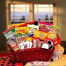 Healthy Food Gift Baskets Fun U0026 Games Gift Basket
