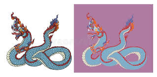 tattoo dragon water hand drawn thai dragon on water line thai is thailand style and