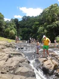 Gardeners Falls Maleny - watch your step as rocks are slippery picture of gardners falls