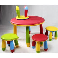 childrens table and stools buy kids multicolor table and 4 stools set durable plastic childrens