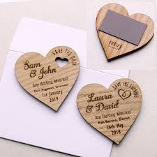 wedding magnets save the date wood heart magnet wooden wedding magnets coloured