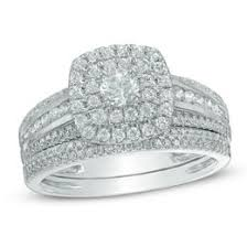 engagement and wedding ring set bridal sets wedding zales