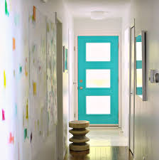 Teal Front Door by A New Mid Century Modern Inspired Exterior Door Dans Le Lakehouse