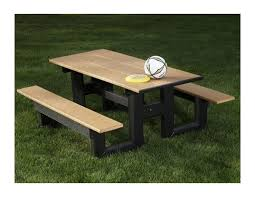 recycled plastic picnic tables 8 ft step thru recycled plastic picnic table 365 lbs furniture