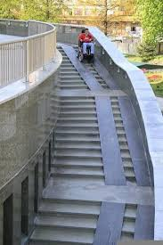 way too steep and not everyone has a wheelchair with wheels that