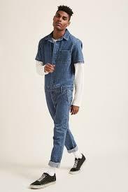 denim jumpsuit mens snap button denim jumpsuit forever21