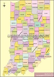 Indiana Road Map County Map Of Indiana Indiana County Map