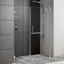 Frameless Shower Sliding Glass Doors Vigo 60 Inch Frameless Shower Door Chrome Finish