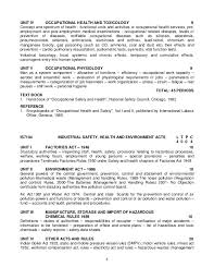 Occupational Health And Safety Resume Examples by Safety Syllabus 2013 Reg