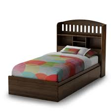 delightful twin bed with storage and bookcase headboard native for