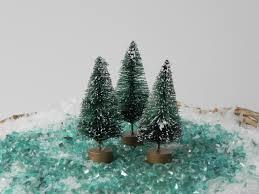 3 miniature christmas tree 2 5 inch accessory for fairy garden
