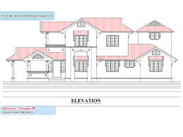 28 kerala house single floor plans with elevations model and