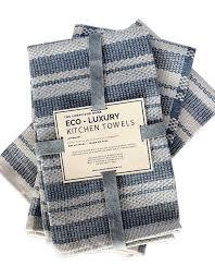 amazon com eco luxury kitchen towels 100 cotton upcycled set
