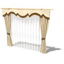 beige long curtains 3d model cgtrader