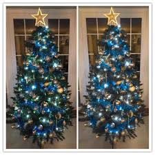 blue and gold christmas decorations cheminee website