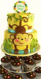 monkey baby shower cake monkey baby shower cake display spotted on unique