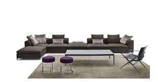 modular sofa contemporary leather fabric michel club b u0026b