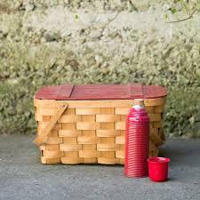 vintage picnic basket prop shop seascape flowers