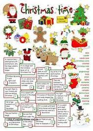 christmas fun english vocabulary pinterest