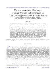 women in action challenges facing women entrepreneurs in the