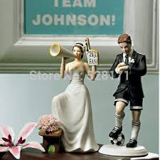 football wedding cake toppers hot free shipping match football rugby wedding
