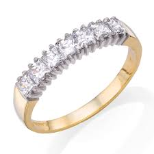 gold eternity rings 9ct gold cubic zirconia eternity ring 0000903 beaverbrooks the