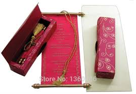 Indian Wedding Cards Online Scroll Wedding Invitations Card Wholesale Party Wedding India Rose