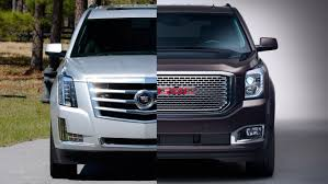 2015 luxury trucks 2015 gmc yukon denali vs 2015 cadillac escalade mis autos