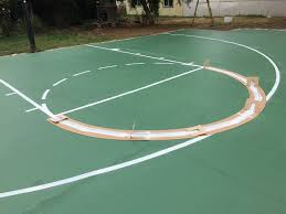 Backyard Tennis Courts Backyard Basketball Court Ideas Stencils Layouts U0026 Dimensions