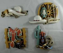 home interior cowboy pictures vtg home interiors cowboy turquoise wall decor plaques burwood