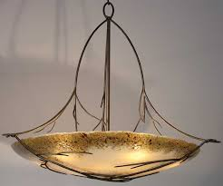 Twig Light Fixtures Large Woodland Twig Chandelier With Custom Glass And Antique