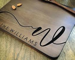 personalized cutting boards cutting board etsy