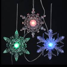snowflake lights set of 8 led musical color changing battery operated snowflake